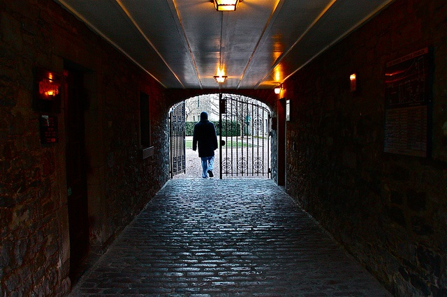A Tunnel in Montreal, Quebec in December 2011. The man in the picture? My love.
