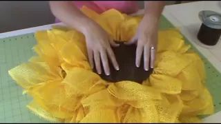 Trendy Tree Deco Paper Mesh Sunflower Tutorial - YouTube