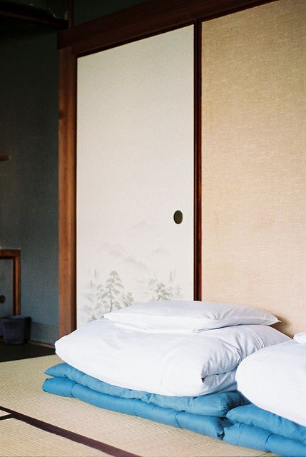 Futon mattress - put away during the sayin your sliding door  storage areas.