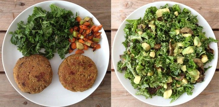 Hamb veganes + kale