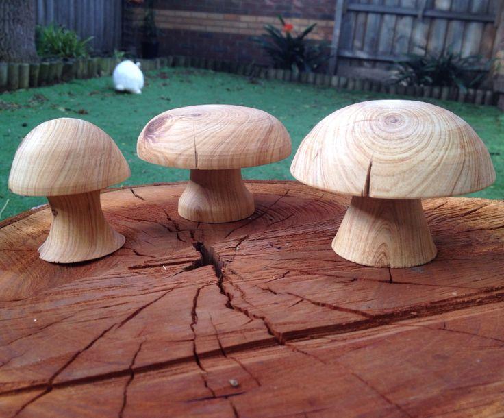 Turned fairy mushrooms ready for a garden :) #fairy #fairygarden