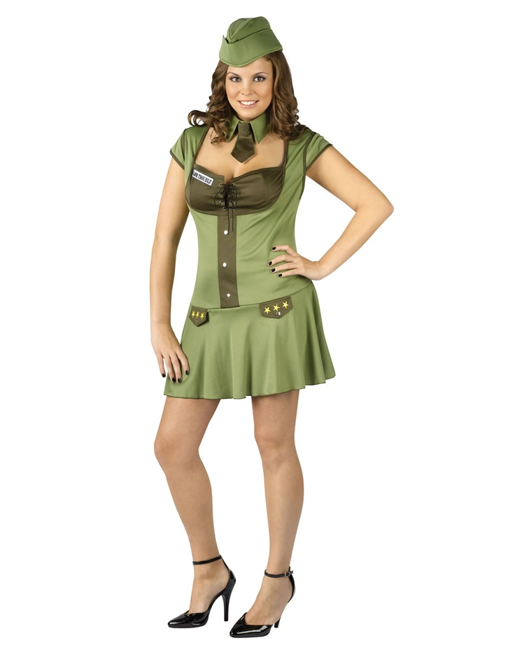 sexy plus size major trouble army military soldier halloween costume - Soldier Girl Halloween Costume