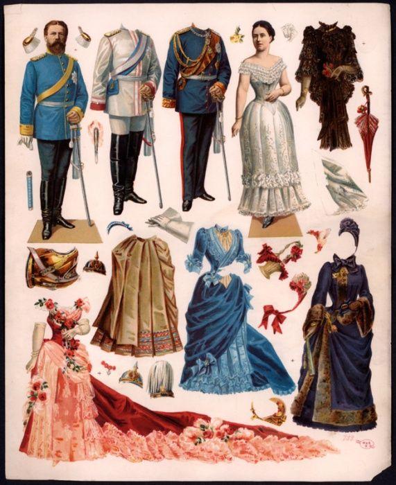 Kaiser Frederick III and Kaiserin Victoria _ 1880s Auf alladolls.ru http://www.pinterest.com/maavara/paperdolls/
