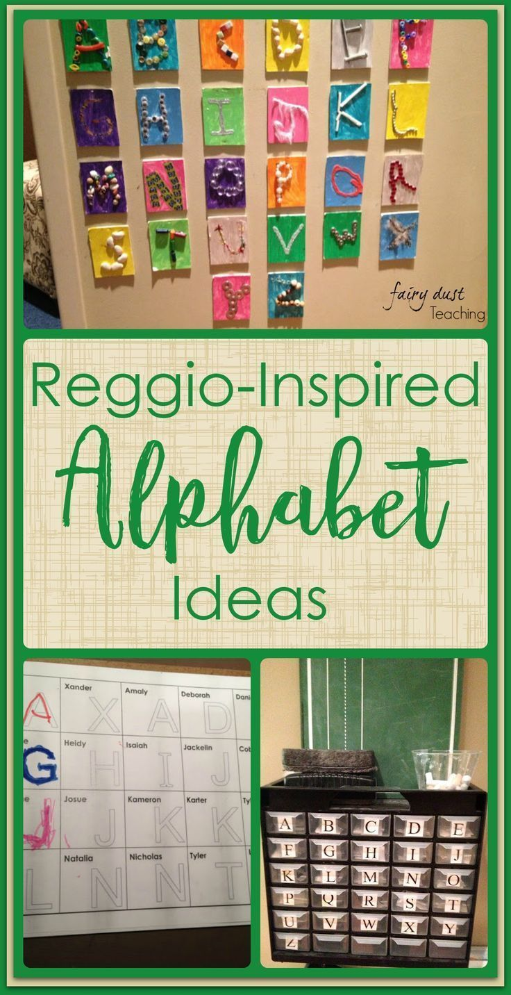 Reggio Inspired: The Alphabet l Fairy Dust Teaching