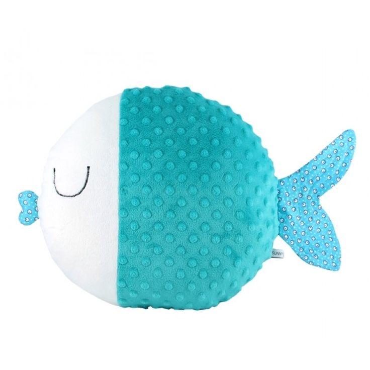 Подушка рыбка бирюзовая