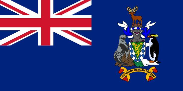 Flag of South Georgia and the South Sandwich Islands.svg capitale King Edward Point £  revendiquée par l'Argentine