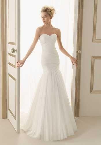 Bridal Gown Inspiration a board by www.myfauxdiamond.com #myfauxdiamond #weddings #jewelry  Luna Novias 121-ELISA