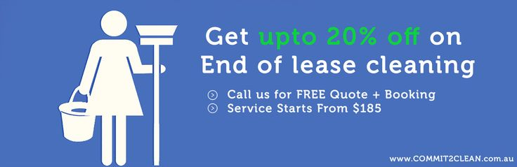Get upto 20% off on End of lease cleaning in Melbourne http://bit.ly/1NCrAvn