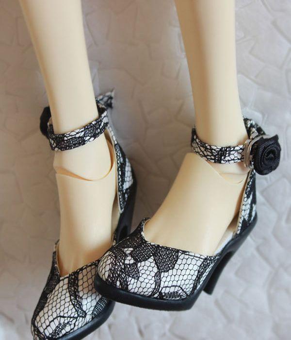 bjd EID girl doll lace high-heel shoes dollfie dream ship US
