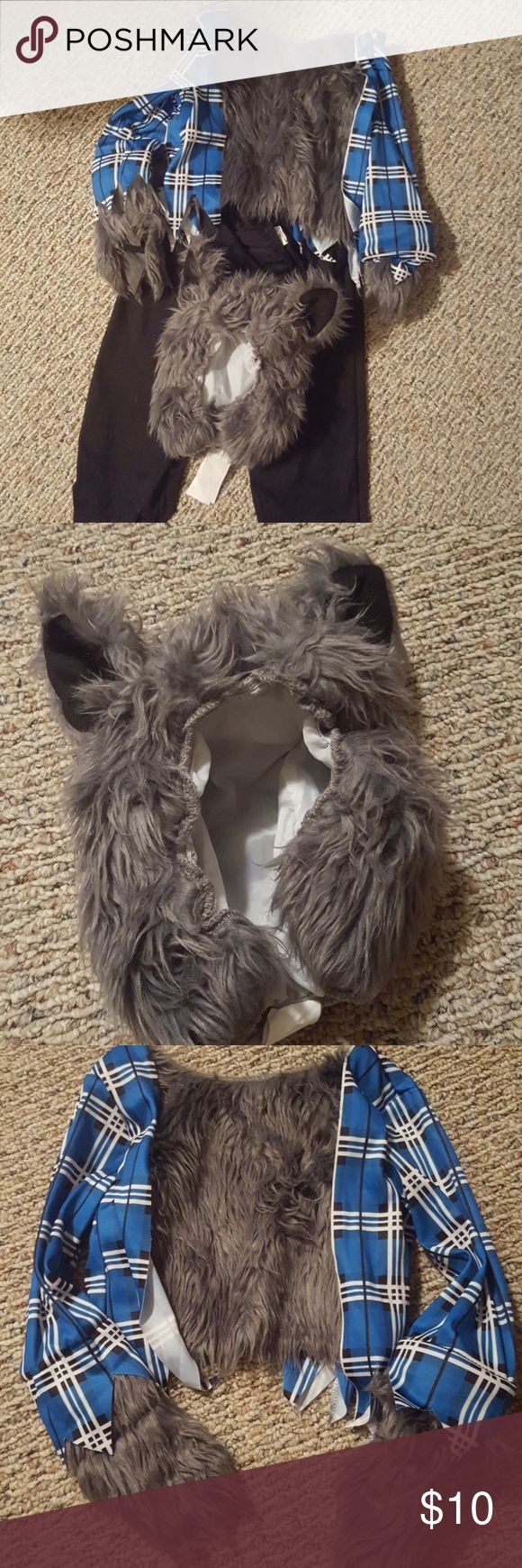 Toddler wolf costume Who's afraid of the big bad wolf...cute toddler wolf that is. Size 2-4T and worn once. Great condition. Dream Weavers Costumes Halloween