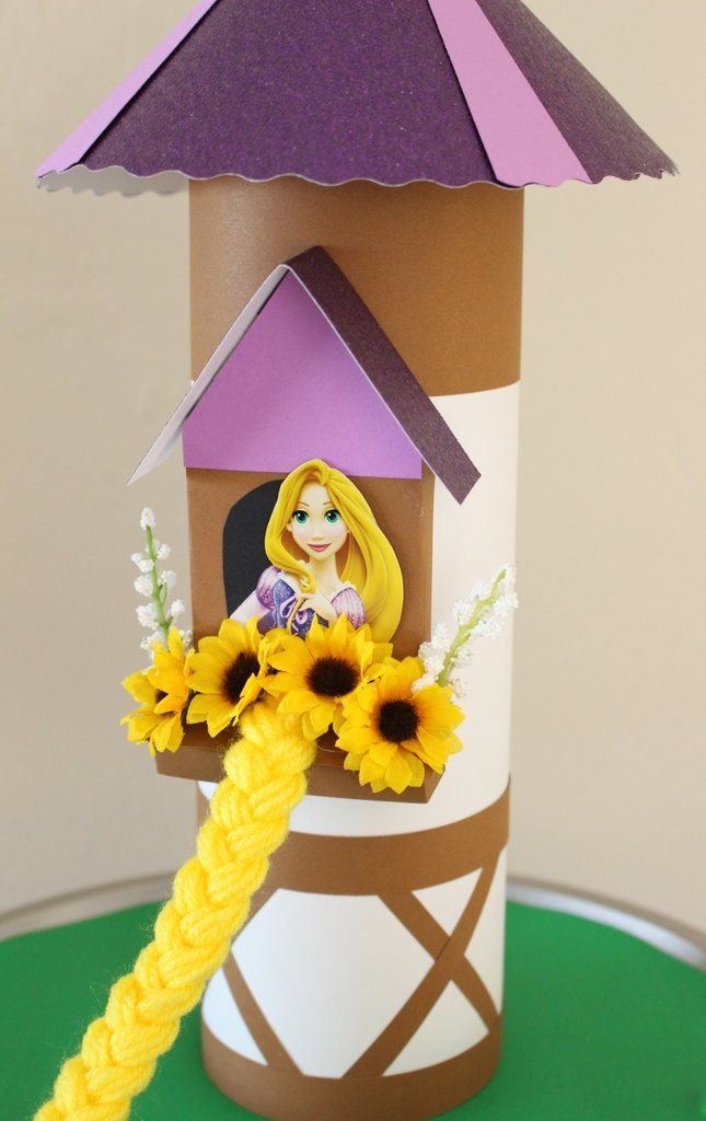 Diy Tangled Rapunzel Tower Paige S 3rd Birthday