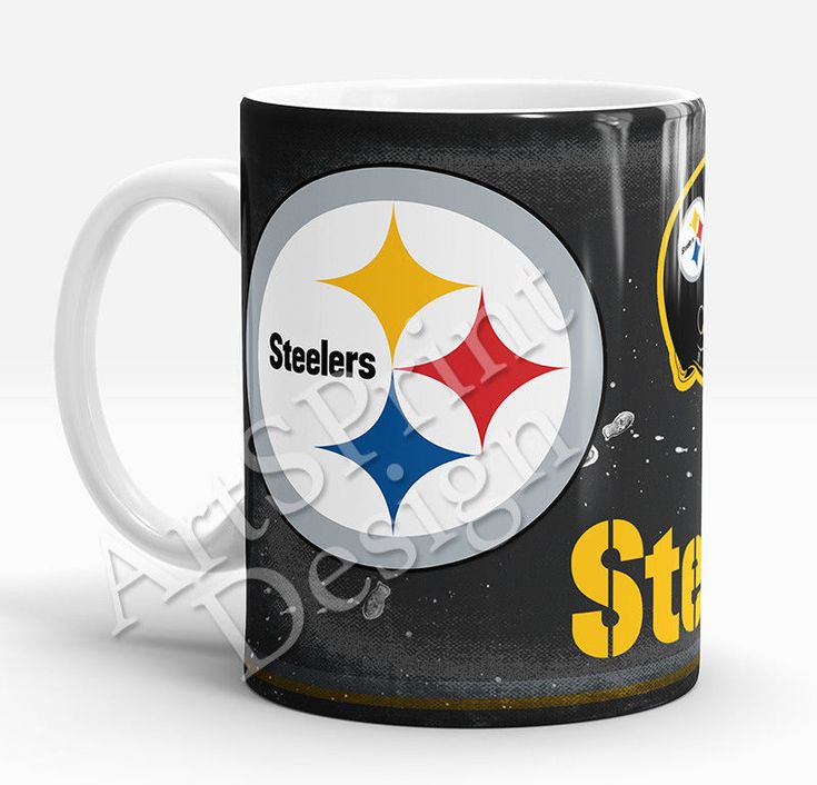 Pittsburgh Steelers Mug American Football Mug for Him Sports Mug Football Art