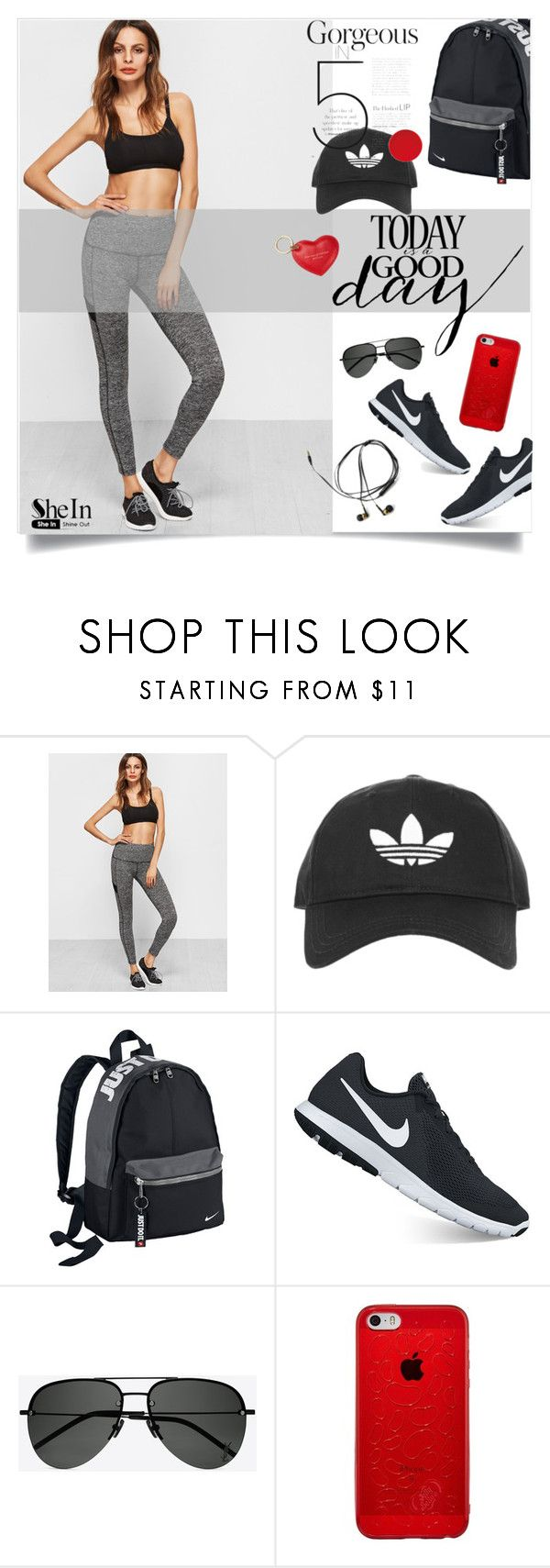 """""""Серые Леггинсы в Шеин!"""" by miss-image ❤ liked on Polyvore featuring Topshop, NIKE, Yves Saint Laurent and Aspinal of London"""