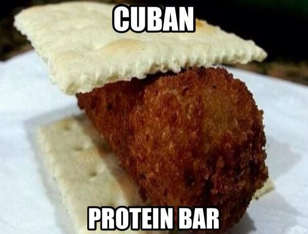 Galletica con croqueta !! Cubans be like .