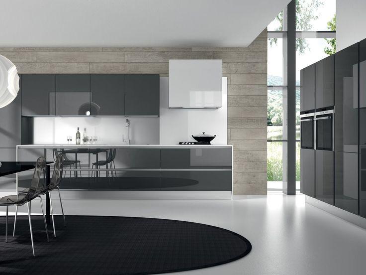 Dark Grey Modern Kitchen počet nápadov na tému modern grey kitchen na pintereste: 17
