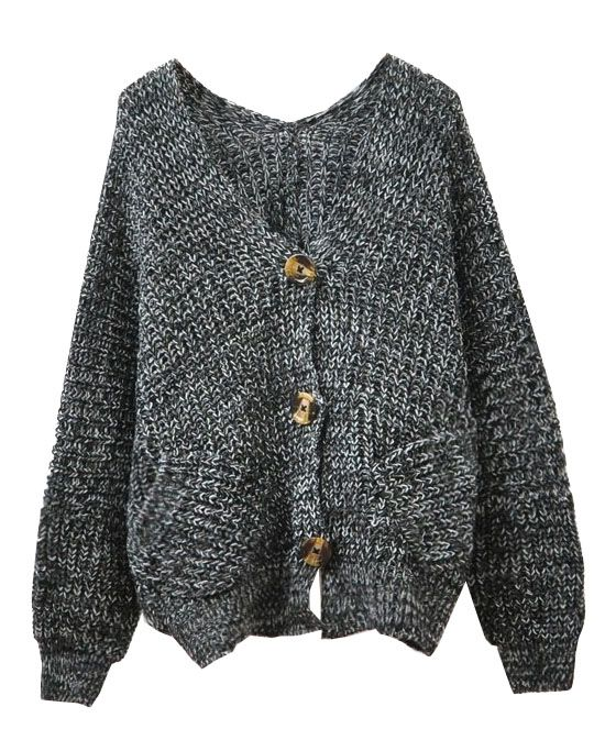 Charcoal Oversized Batwing Cardigan