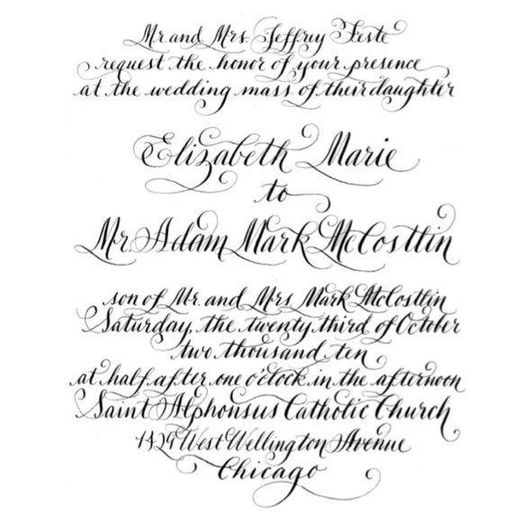 Imprimer les invitations personnalisées de calligraphie à la maison ! Vous pouvez également utiliser votre finie à une imprimerie locale ou lenvoyer à votre libraire préféré pour eux à imprimer ainsi que de leur propre conception.  Cette liste est libellé Invitation numérique de haute résolution qui comprend :  Inviter principal libellé Carte de RSVP Adresse de retour pour une utilisation sur les deux enveloppes  Pièces peuvent être faites dans nimporte quel format que vous ou votre…