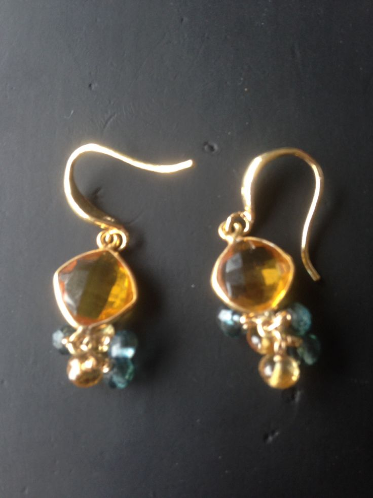 Citrine and London topaz