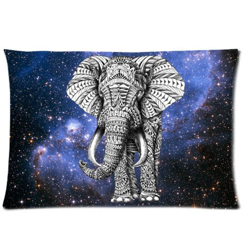 Ornate Elephant Custom Pillow Cases 18''x26'' (Twin Sides) #Unbranded #AnimalPrint