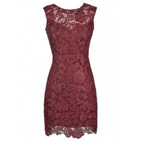 Burgundy Lace Dress, Red Lace Dress, Christmas Dress,  Burgundy Lace Cocktail Dress