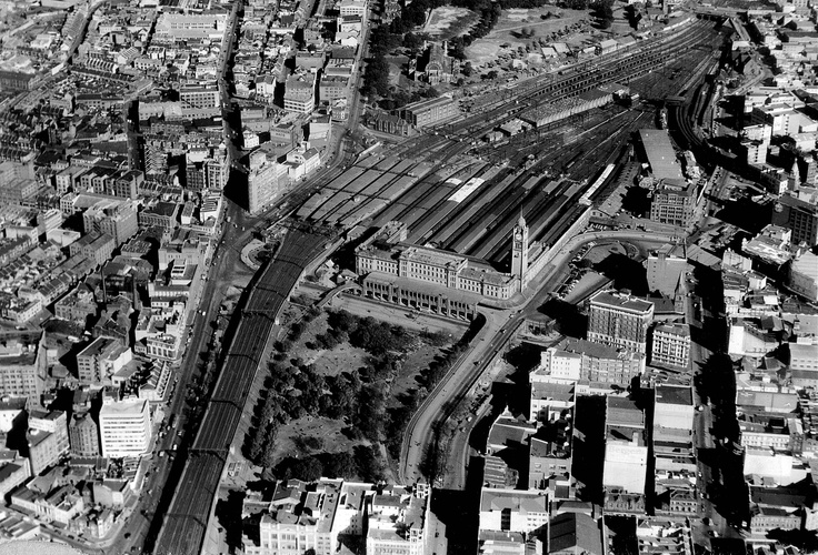 Central Railway Station, circa 1940's/1950's. Sydney, Australia