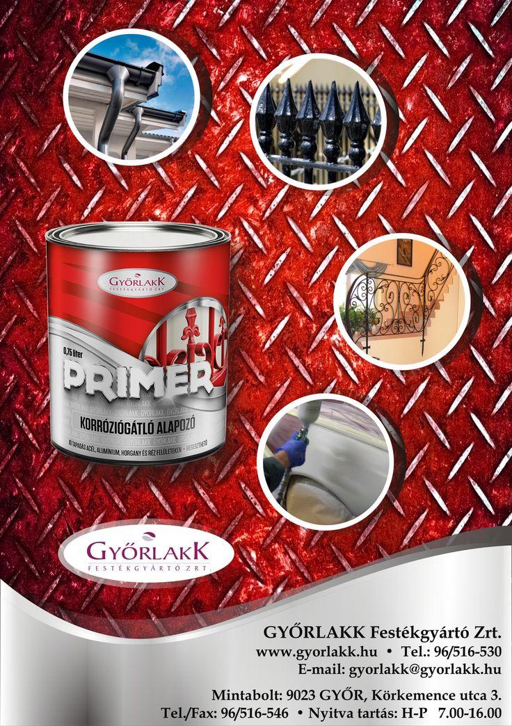 Primer korróziógátló alapozó. Egyszerű védekezés a rozsda ellen! - PRIMER korróziógátló alapozóval! Az egyik legjobb választás a PRIMER korróziógátló alapozó: - használhatod acél, alumínium, horgany és réz felületeken korróziógátló alapozóként - nagy mértékben elősegíti a következő réteg tapadását, növeli a bevonatrendszer tartósságát, - a PRIMER korróziógátló alapozóval bevont felület hegeszthető!
