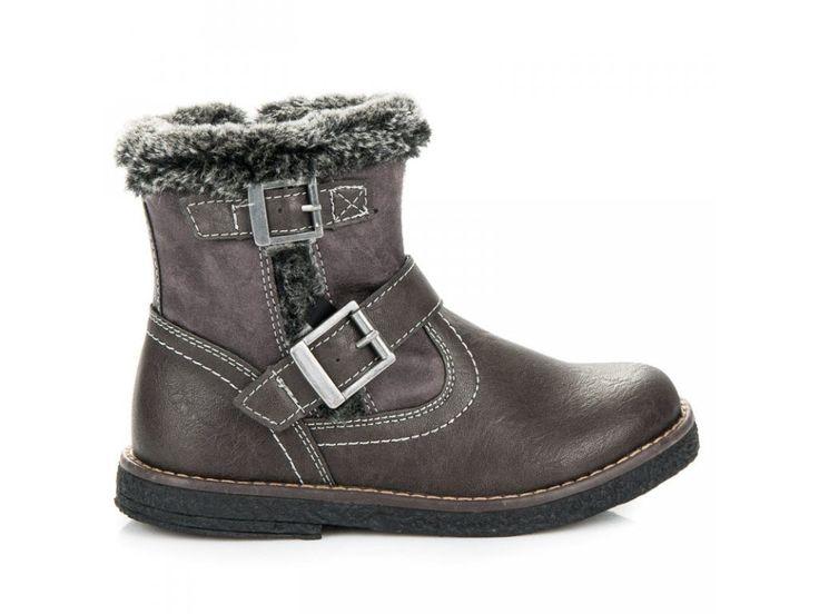 Sivé členkové topánky Martuška