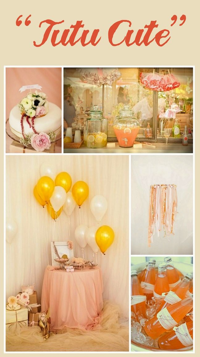 Birthday Party IdeasShowers, Birthday Parties, Baby Shower Ideas, Tutu Theme, Colors Schemes, Baby Girls, Baby Shower Themes, Girls Baby Shower, Baby Shower