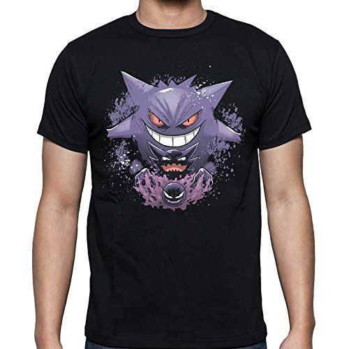 Gengar Evolution for Men T-Shirt (2X-Large, Black) Pokemo…