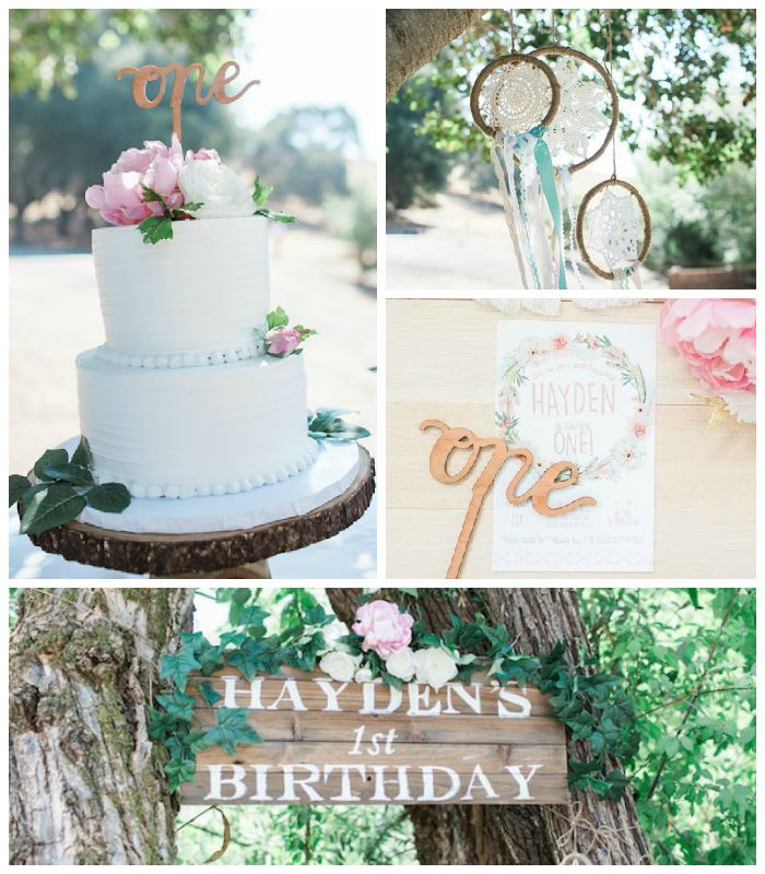 Boho Chic 1st Birthday Party via Kara's Party Ideas   The Place for All Things Party! KarasPartyIdeas.com (2)