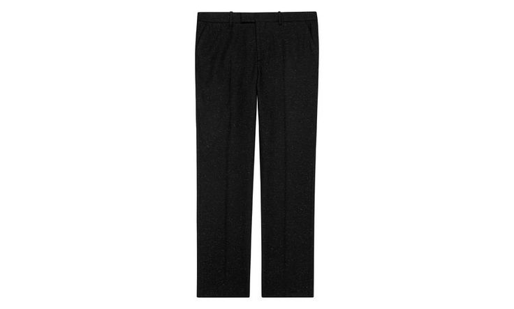 Nep Detail Tailored Trousers, in Black on Whistles