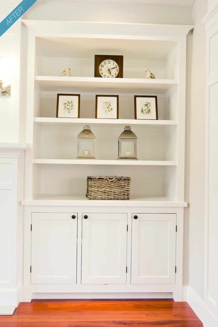 Built in shelves cabinet fireplace wall to ceiling or for Cabinet height