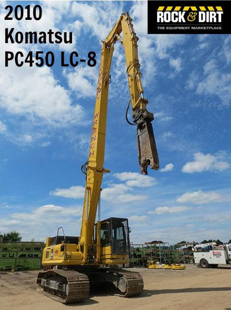 Our featured Excavator is a 2010 #Komatsu PC450 LC-8, Hydraulic Tilt Cab, Full Aux. Plumbing, 2,107 Hrs. We have a great selection of #Excavators! You can view them all at: http://www.rockanddirt.com/equipment-for-sale/excavators #HeavyEquipment #RockandDirt