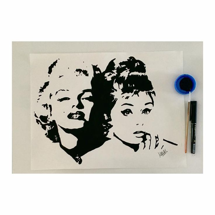 Marilyn Monroe y Audrey Hepburn Pop Art