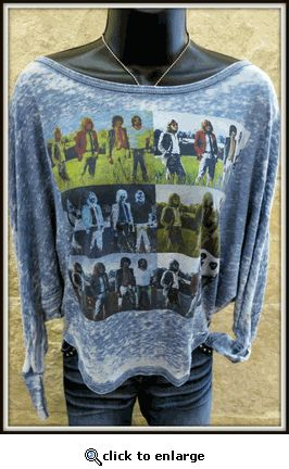Led Zeppelin ladies' burnout shirt