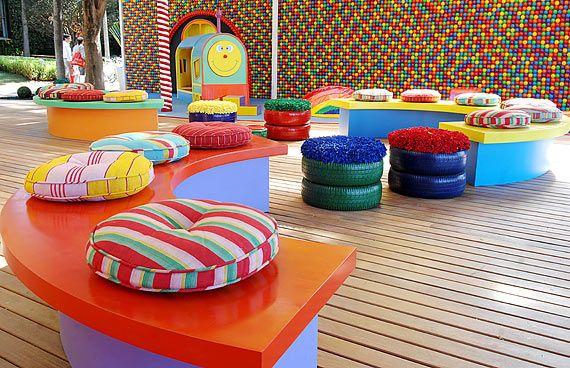 Espaço infantil ganha decoração criativa.