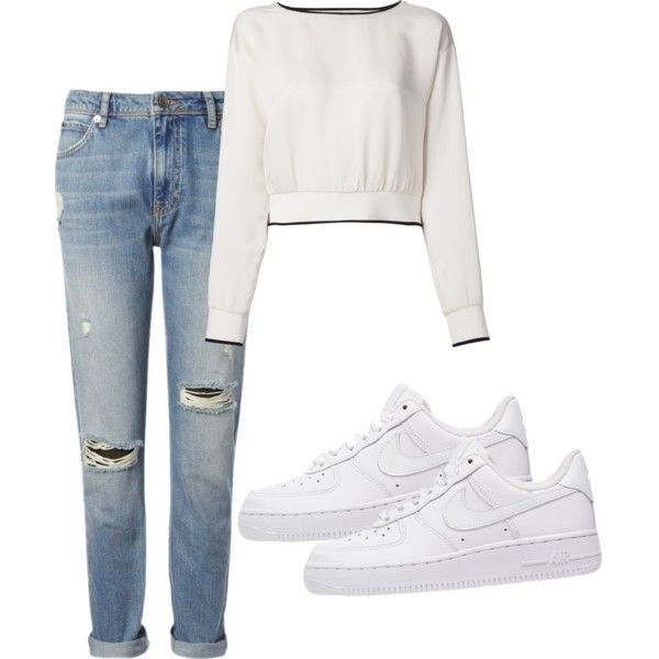 A fashion look from January 2015 featuring Theory sweaters, Whistles jeans and NIKE sneakers. Browse and shop related looks.
