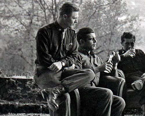 Such an incredible picture - Major Dick Winters, Captain Lewis Nixon & Lieutenant Harry Welsh, Austria, 1945