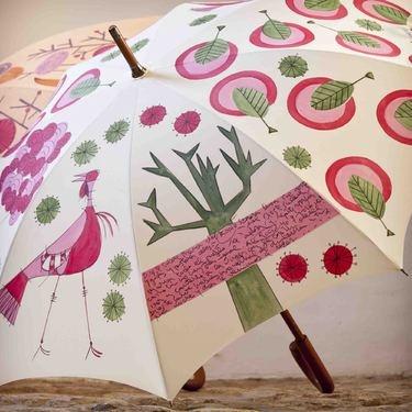 Paraguas artesanal pintado a mano by De Nieve y de Candelas