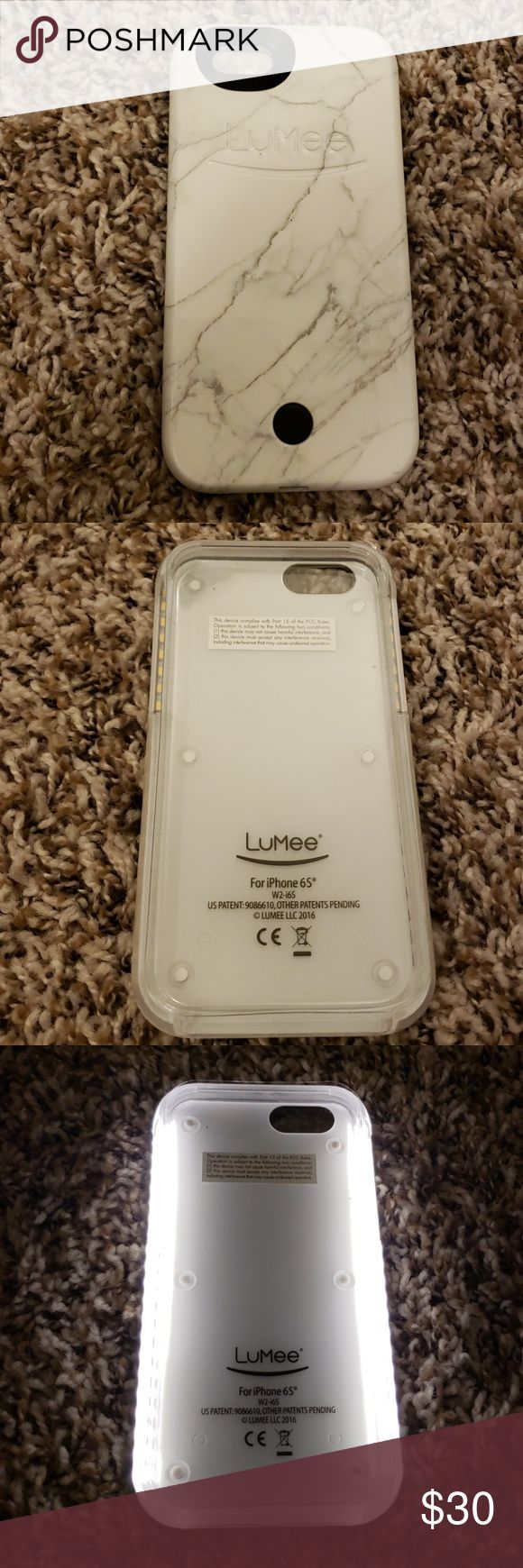 Barely Used Lumee Phone Case Barely Used White Marble