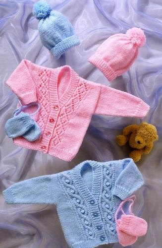 Vintage Knitting Pattern for Baby  cardigans hats & by NewBabySoon, £1.00