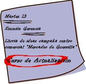 Ejemplo de una lección de actualización sobre Mercadeo de Guerrilla. www.buhovirtual.net