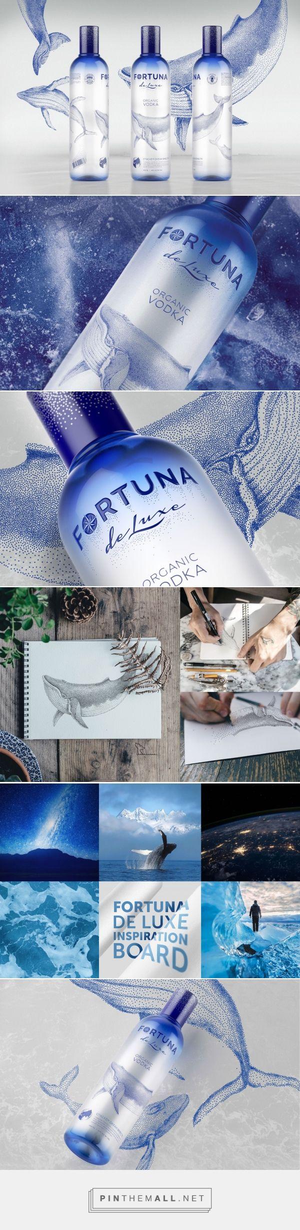 Fortuna de Luxe - Organic #Vodka #packaging #design by DDC.Lab - http://www.packagingoftheworld.com/2017/12/fortuna-de-luxe-organic-vodka.html