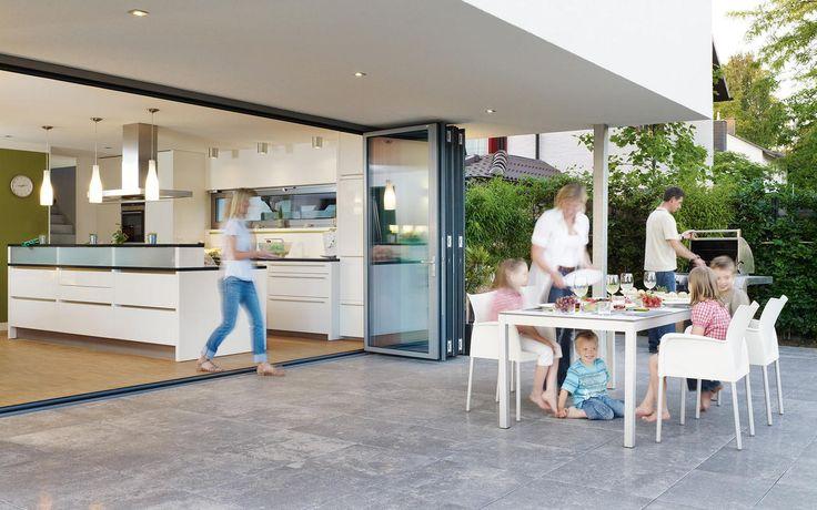 Portes coulissantes en verre extérieures - pour maison, appartement, balcon, terrasse ou jardin - Modèles Concepts - Devis, Fabricant - www.solarlux.fr - Grandes ouvertures