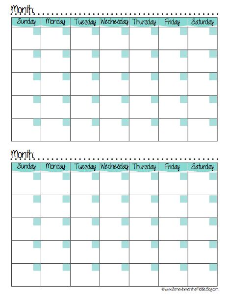 Monthly Meal Planning Tracking Calendar