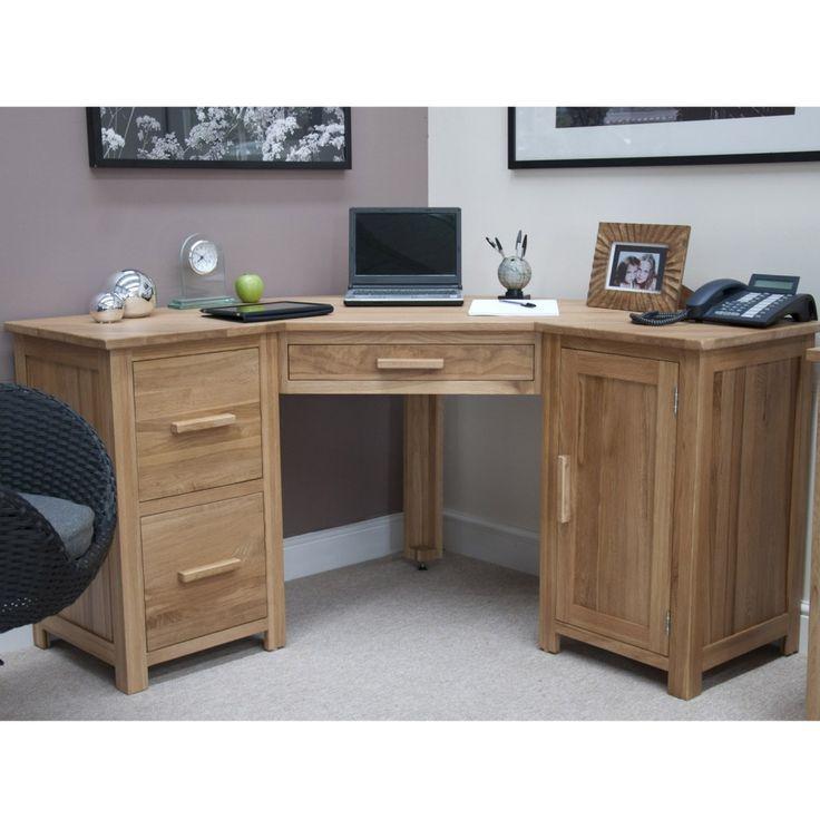 office corner table. Opul Solid Oak Corner Desk Office Table