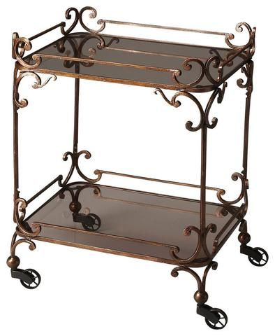 Butler Metal works Victorian Bar/Serving Cart 4234025