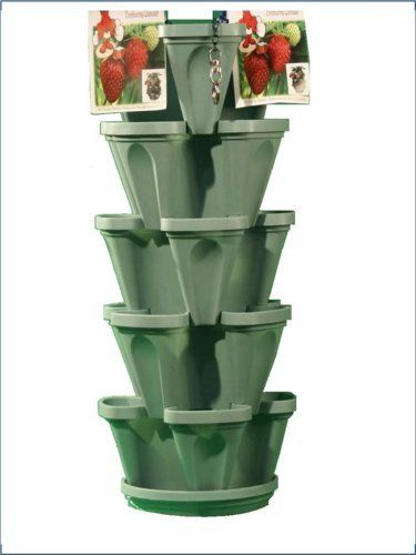 Mr Stacky 5 Tiered Hanging And Stacking Indoor Outdoor Vertical Strawberry Planter Learn How