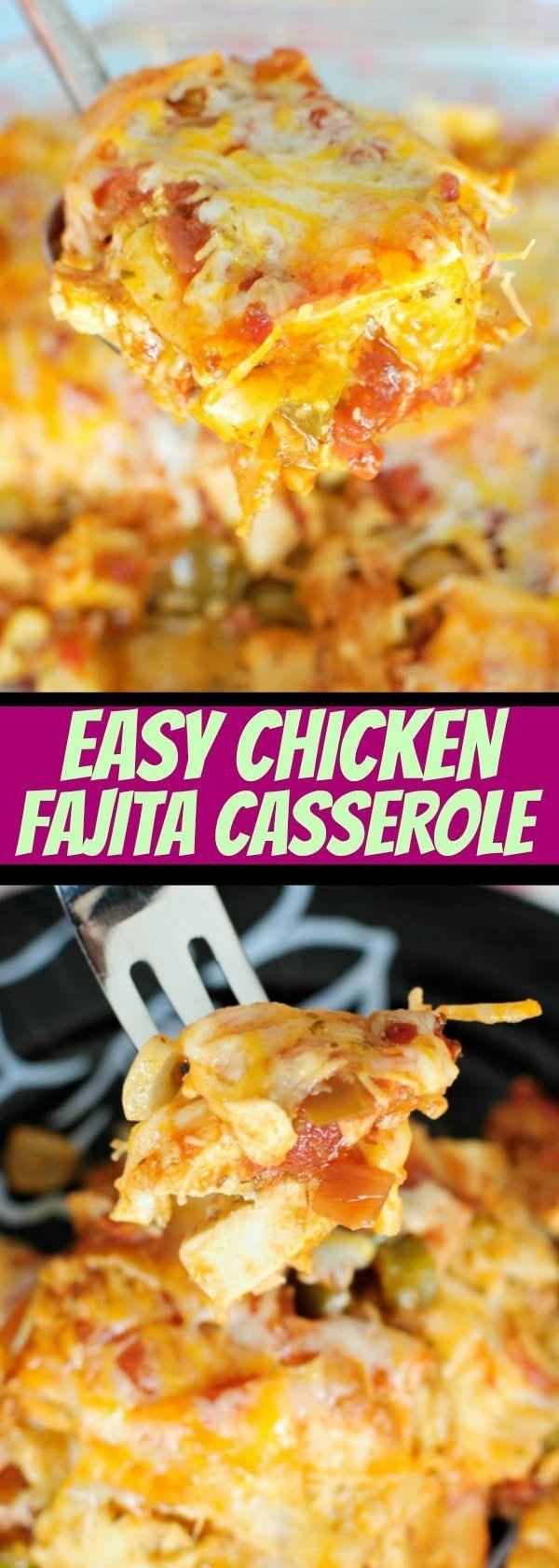 Easy Chicken Fajita Casserole - Great easy dinner idea!