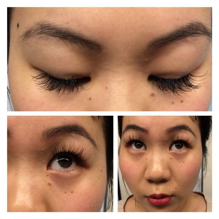 """Full Set of """"Active"""" Lash Extensions done by yours truly ..."""
